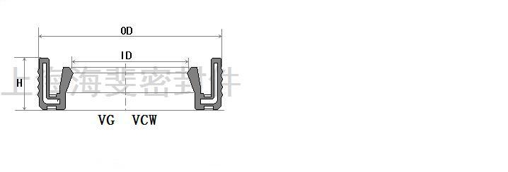 vcw.vg型骨架油封结构与规格尺寸表
